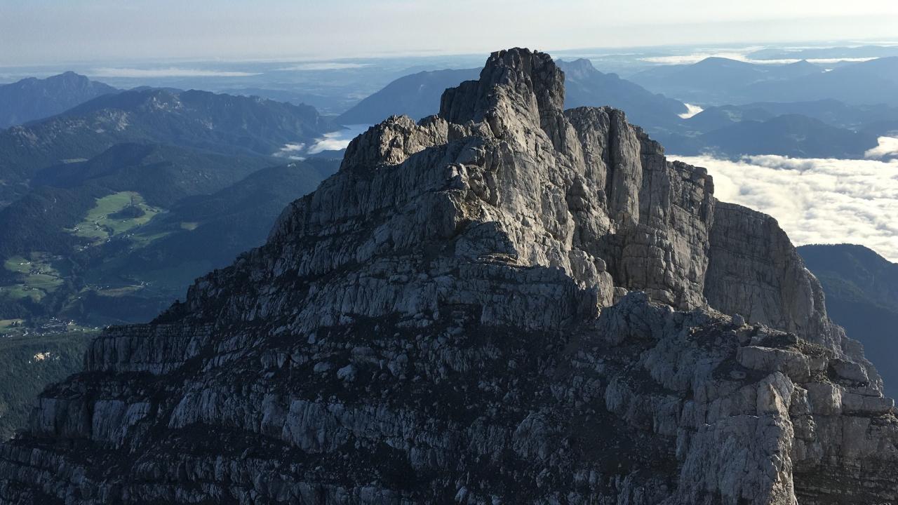Mittelspitze, Blick zurück