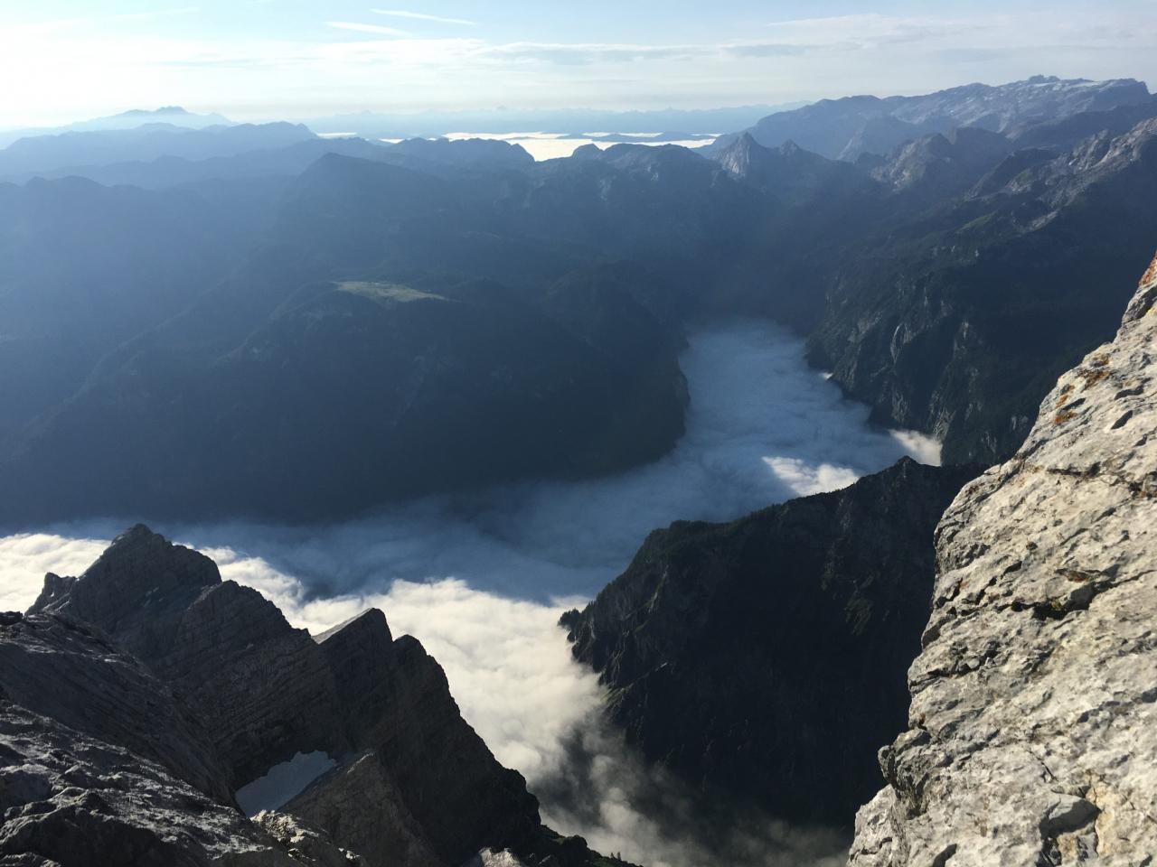 Mittelspitze, Blick auf Königssee