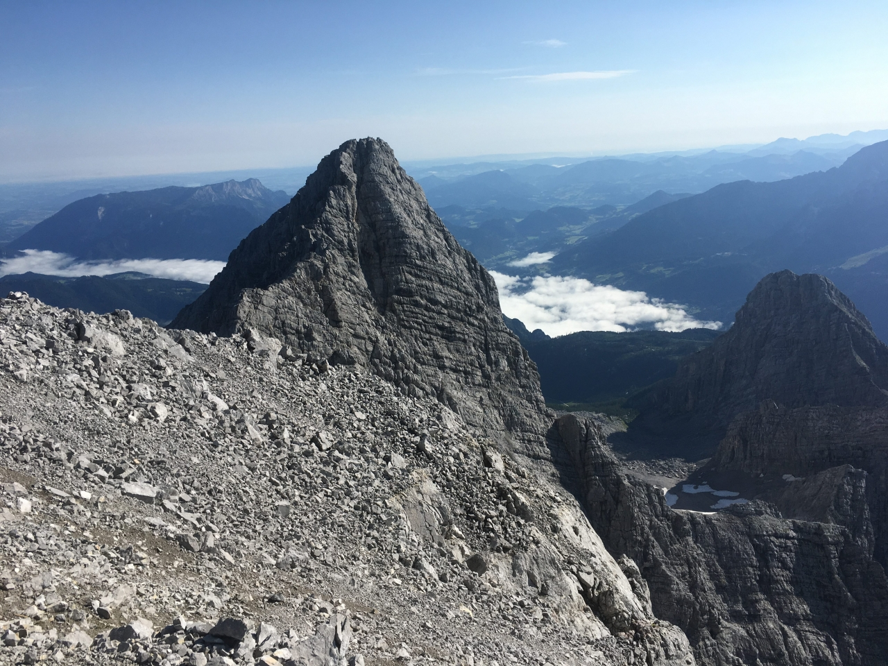 Südspitze, Blick Richtung Mittelspitze