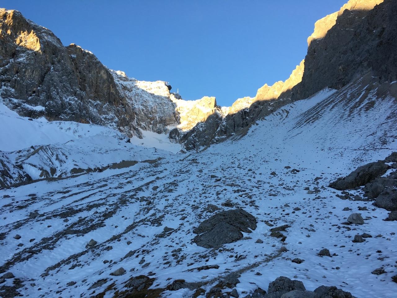 Höllental, Annäherung Gletscher