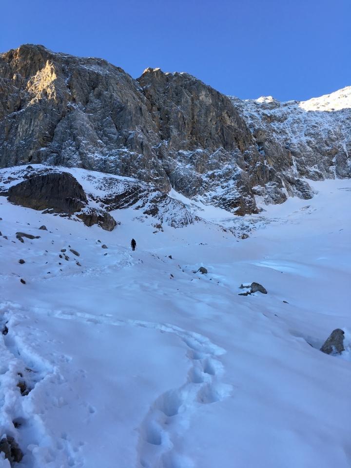 Höllental, am Gletscher