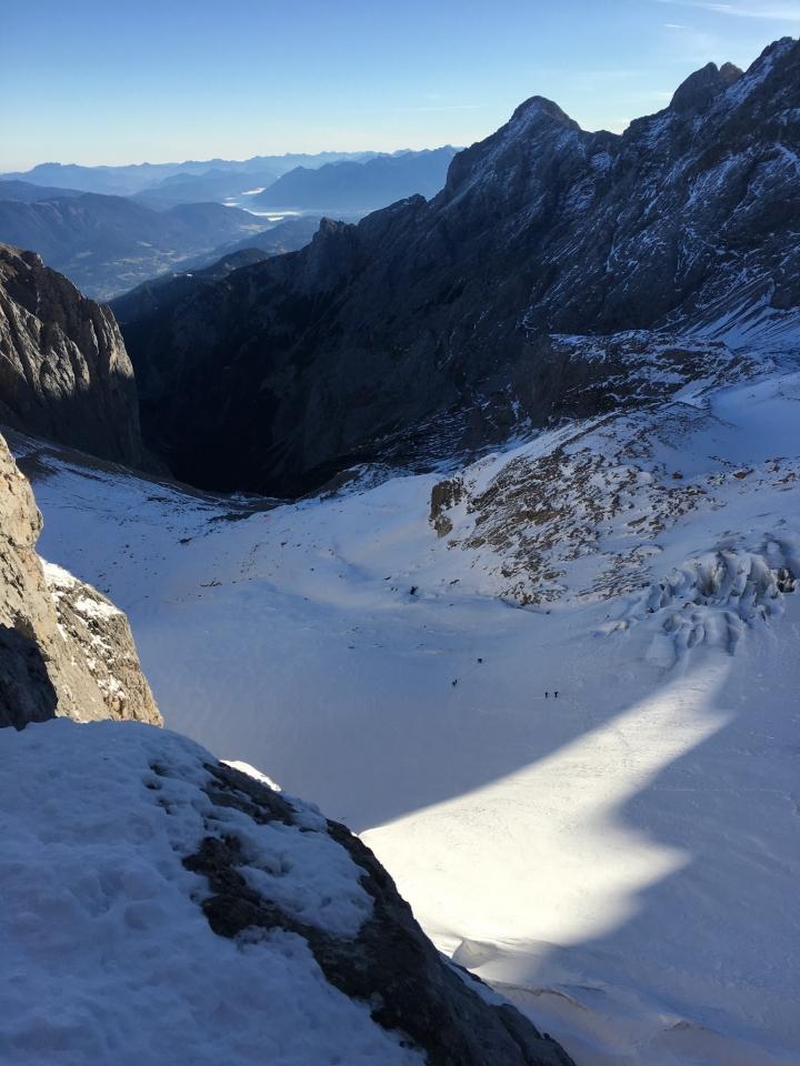 Höllental, Blick auf Gletscher