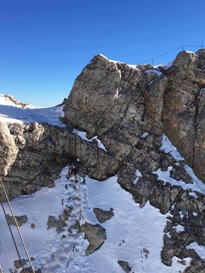 Zugspitze, Abstieg