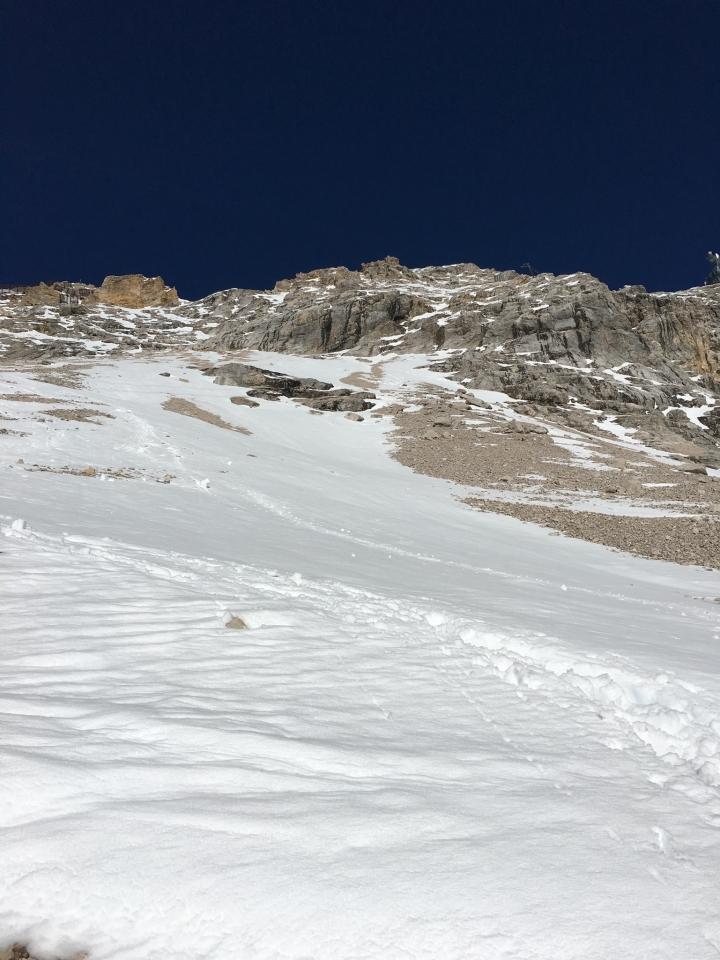 Zugspitze, Blick zurück