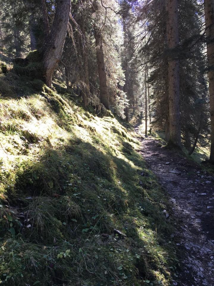 Kreuzeck, im Aufstieg