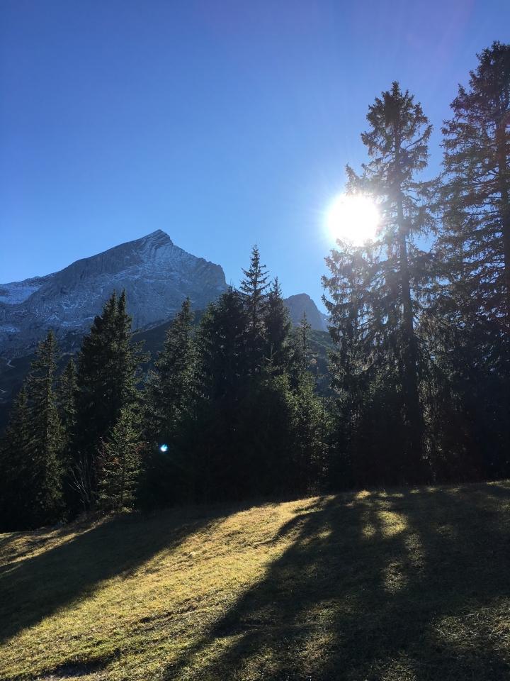 Kreuzeck, Blick zur Alpspitze